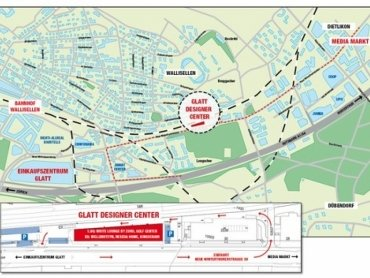 Anfahrtsweg Designer Center Wallisellen