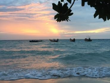 Beach, Sunset, Koh Tao, Thailand